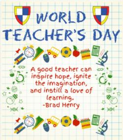 HAPPY WORLD TEACHERS DAY!
